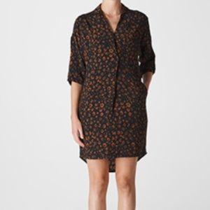 Whistles Lola Cheetah Animal Print Dress, NWT